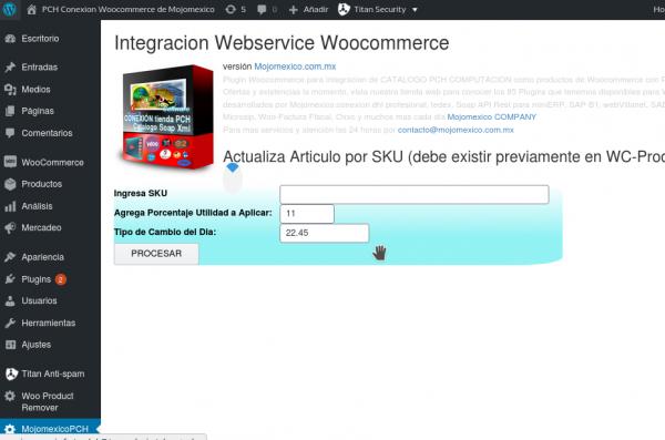 Conexion PCH Webservice tienda Web